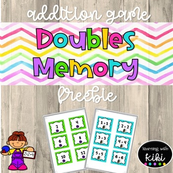 Doubles Math Game Freebie