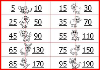Doubles Maths Memory Games: 240 Cards, 3 Difficulty Levels
