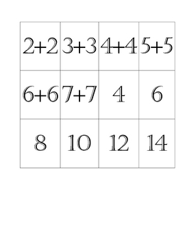 Doubles Memory Game