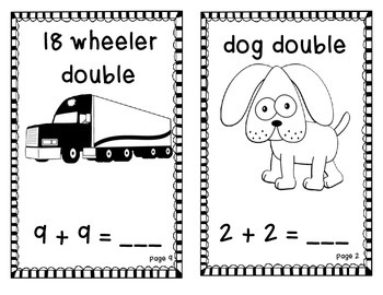Doubles Mini-Books for Addition AND Subtraction
