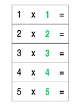 Doubles Multiplication Flash Cards