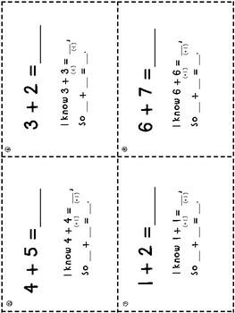 Doubles + Near Doubles Task Cards