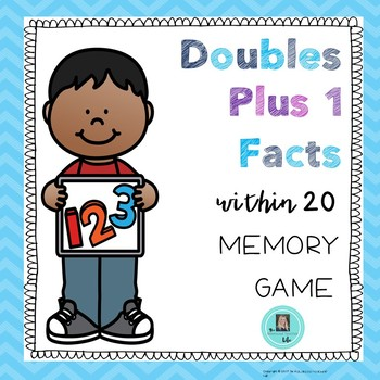Doubles Plus 1 Memory Game