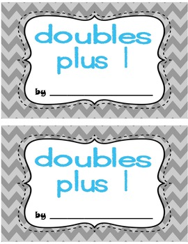 Doubles Plus 1 Interactive Book and More