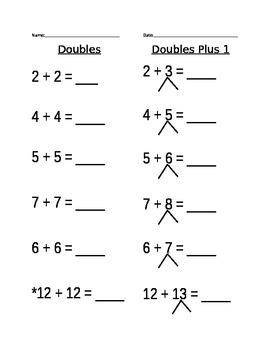 Doubles Plus 1 Worksheet (4)