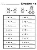 Doubles Plus 2 Worksheet