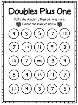 Doubles Plus One Bingo