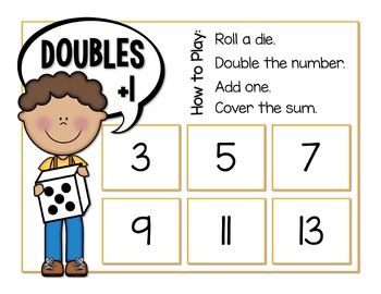 Doubles Plus One Dice Game
