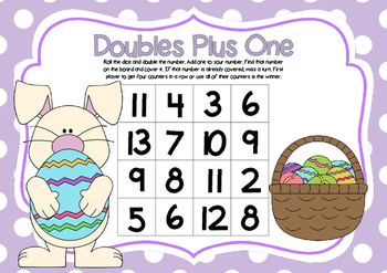 Doubles Plus One- Easter Theme Math Game
