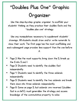 Doubles Plus One Graphic Organizer Set