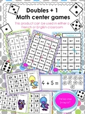 Doubles Plus One Math Center Games