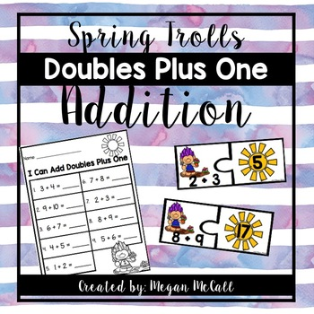 Doubles Plus One Spring Troll Puzzles