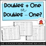 Doubles Plus One or Doubles Minus One