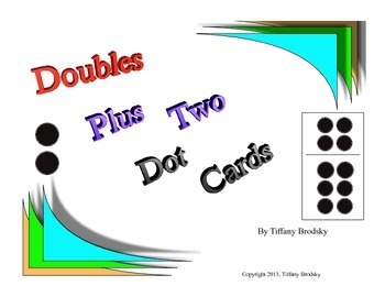 Doubles Plus Two Dot Cards Great for math centers, one on one, and small groups!