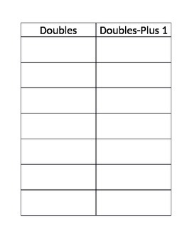 Doubles Plus one sheet