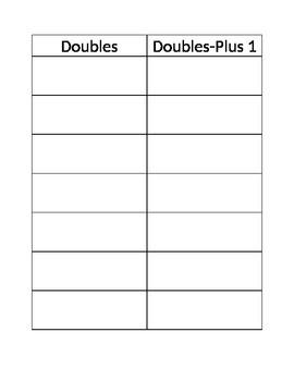 Doubles Plus one sheet