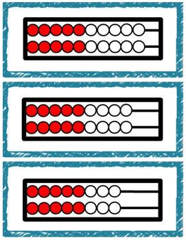 Doubles Rekenrek Cards