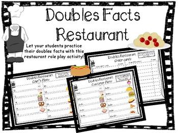Doubles Restaurant Activity--Dramatic Play