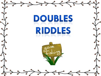 Doubles Riddles Math Story