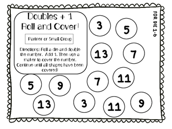 Doubles Roll & Cover PLUS Doubles +1 and Doubles - 1!