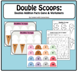 Doubles Scoops: Ice Cream Summer Math, Review Doubles Facts #christmasinjuly