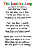 Doubles Song Maths Poster