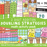 Doubles Strategies for 2 Digit Numbers - Addition Activity Pack