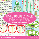 Doubles Strategies for Addition - Apple Math Games and Activities