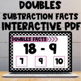 Doubles Subtraction Facts Interactive PDF and Boom Cards