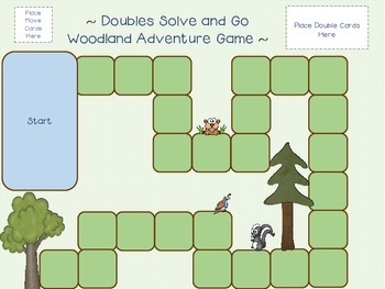 Doubles Wildlife Worksheets Flash Cards & Game