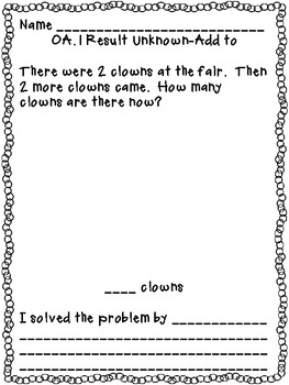 Doubles Word Problems