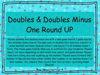 Doubles and Doubles Minus 1 Round UP