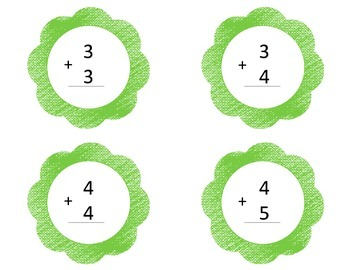 Addition Doubles and Doubles Plus One Flash Cards