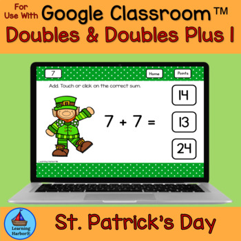 Doubles and Doubles Plus One For Google Drive™ St. Patrick's Day Theme
