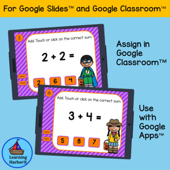 Doubles and Doubles Plus One  Halloween Fun for Google Classroom™