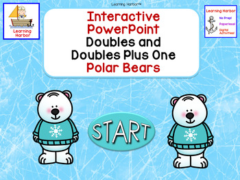 Doubles and Doubles Plus One Polar Bear Interactive Self-Correcting PowerPoint