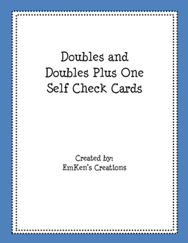 Doubles and Doubles Plus One Self Checking Cards