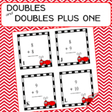 ADDITION Doubles and Doubles Plus One 26 Task Cards