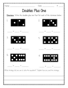 Doubles and Doubles Plus One Worksheet (Homework)