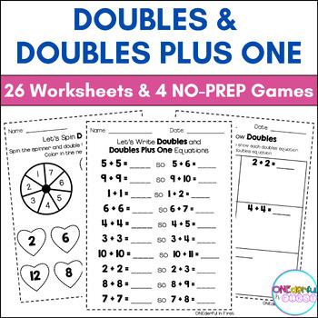 Doubles Plus 1 Worksheet Teaching Resources | Teachers Pay Teachers