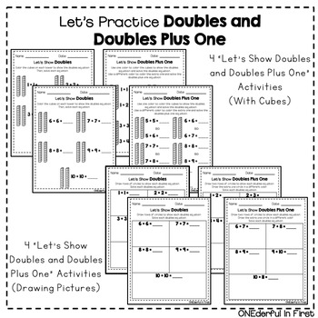 Doubles and Doubles Plus One - Worksheets and NO-PREP Games