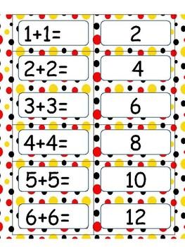 Doubles and Doubles plus 1 Math Activity