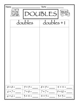 Doubles and Doubles plus one Sort- FREEBIE OF THE WEEK! by Lovin-Life