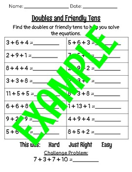 Doubles and Friendly Tens, Finding Doubles, Finding Friendly Tens, Doubles Add