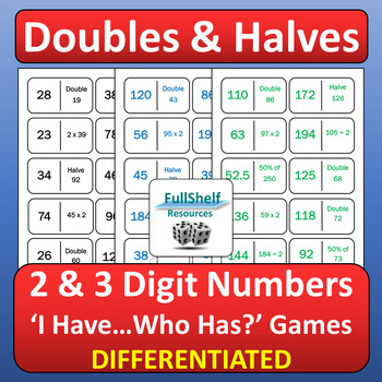 Doubles and Halves Games
