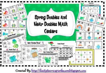 Doubles and Near Doubles Game Pack {Spring}