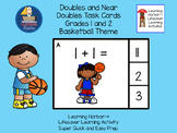 Doubles and Near Doubles Basketball Kids  Task Cards  Grad
