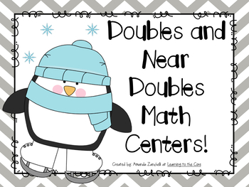 First Grade Math Centers: Doubles and Near Doubles Game Pack