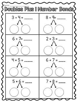 Doubles and Near Doubles Games and Printables