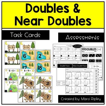 Doubles and Near Doubles Matching Games & Quizzes